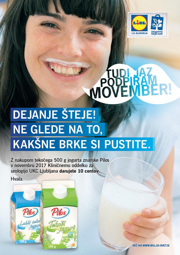 LIDL Slovenija podpira Movember