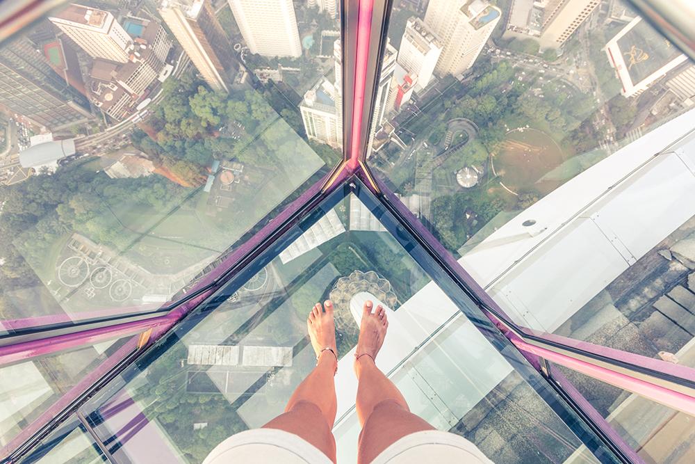 Srhljivi pogled s Petronas stolpnice