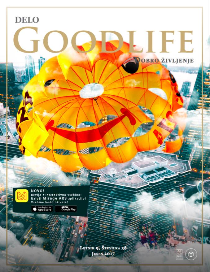 Interaktivna jesenska naslovnica. Ilustracija Simon Dermota
